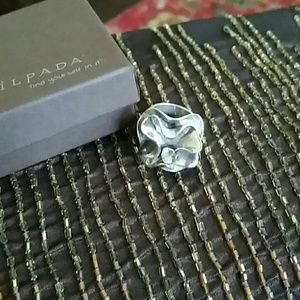 Silpada sterling floral ring size 7 EUC